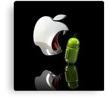 Apple Vs Andriod Canvas Print