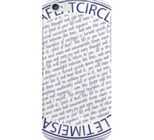 time is a flat circle iPhone Case/Skin