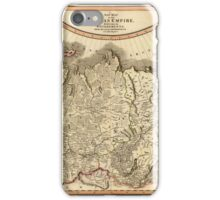Map of Russian Empire 1799 iPhone Case/Skin