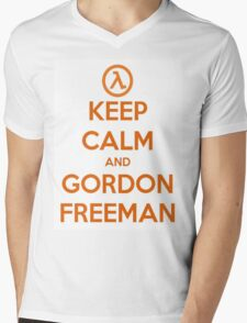 Keep Calm And Gordon Freeman Mens V-Neck T-Shirt
