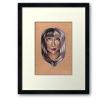 Gemini ♊ Astrological Fantasy Portrait Framed Print