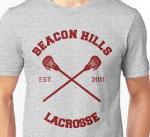 Beacon Hills Lacrosse CRossLogo - Maroon Unisex T-Shirt