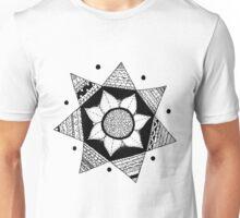 Flower Drawing - White Background Unisex T-Shirt