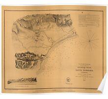 Map of Santa Barbara 1853 Poster