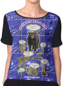 The Detroit Zoo Life  Chiffon Top