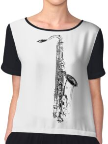 saxophone abstract Chiffon Top