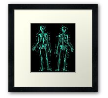 Anatomy: The Skeletal System -Sticker Framed Print