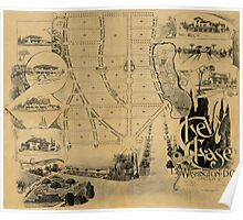 Map of Chevy Chase 1890 Poster
