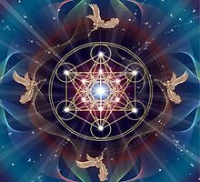 Metatron's Cube - Merkabah - Peace and Balance by Olga Kuczer
