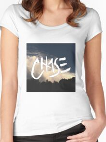 """Chase: """"The Sky"""" Women's Fitted Scoop T-Shirt"""