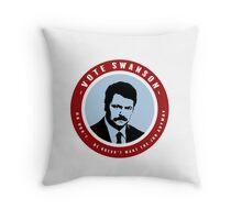 VOTE SWANSON Throw Pillow