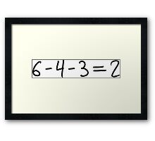 Double Play Equation - Dark Framed Print