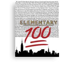 #Elementary100  Canvas Print
