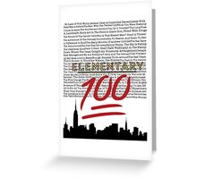 #Elementary100  Greeting Card