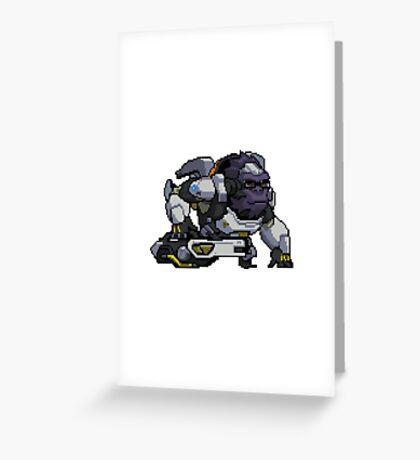 Winston Pixelart Spray Greeting Card