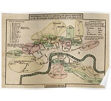 Map of London Toll Gates1790 Poster