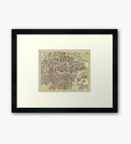 Map of Vienna 1883 Framed Print