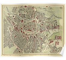 Map of Vienna 1883 Poster