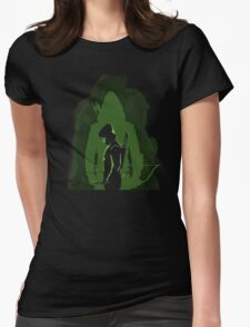 Green shadow Womens Fitted T-Shirt