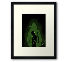 Green shadow Framed Print