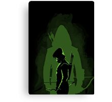 Green shadow Canvas Print