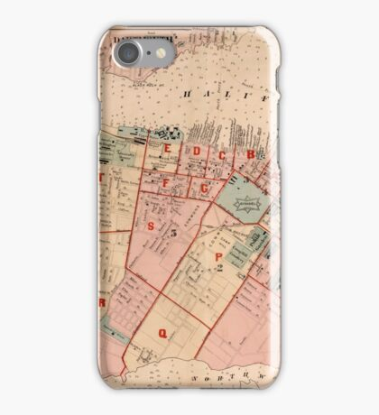 Map of Halifax 1878 iPhone Case/Skin