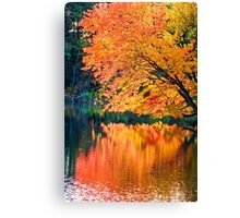 The Magic of Autumn in New England Canvas Print