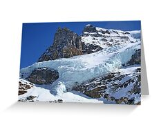Mountain Snow in the Columbia Icefields Greeting Card
