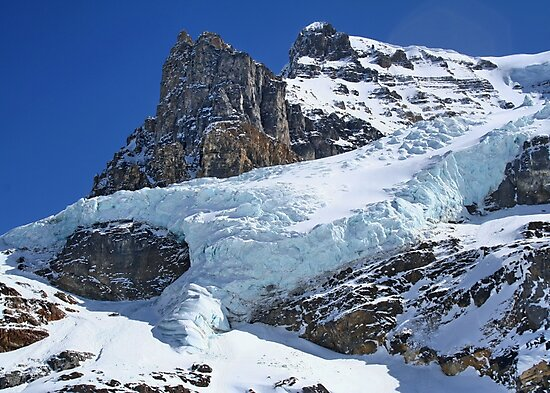 Mountain Snow in the Columbia Icefields by AnnDixon