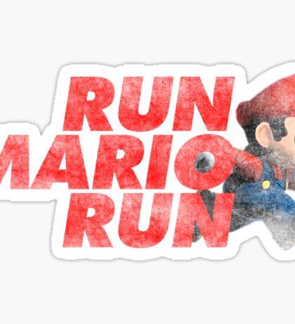 Super Mario - Run Mario Run - Dirty Sticker