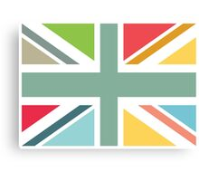 Colourful Union Jack flag Canvas Print