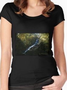 Dingmans Autumn Afternoon Women's Fitted Scoop T-Shirt