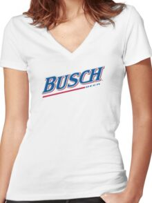 Busch Beer Women's Fitted V-Neck T-Shirt