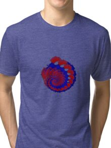 Fractal reds blues 101416 Tri-blend T-Shirt