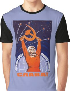 Long Live The Soviet People - The Space Pioneers Graphic T-Shirt