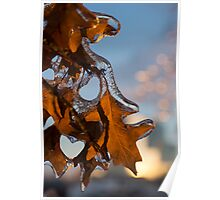 Sparkling Oak Leaf Jewels Poster