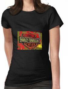 I Love Harley Womens Fitted T-Shirt
