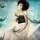 My first Origami Crane by Catrin Welz-Stein
