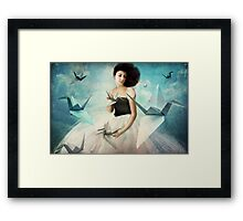 My first Origami Crane Framed Print
