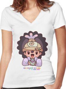 Rosebunny Designs Girls - NAOMI (INSPIRE) EMBRACE YOURSELF Women's Fitted V-Neck T-Shirt
