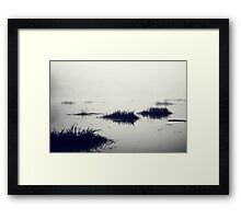 Fog over the river Framed Print