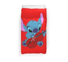 Stitch and a cello in red  Duvet Cover