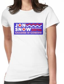 Jon Snow for President Womens Fitted T-Shirt