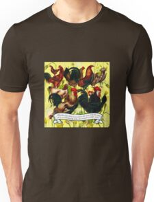 Gazing at Victorian Chickens 4 Unisex T-Shirt
