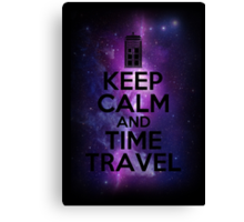 Keep calm and time travel Canvas Print