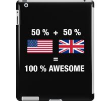 British American Half United Kingdom Half America Flag iPad Case/Skin