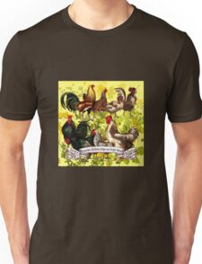 Gazing at Victorian Chickens 3 Unisex T-Shirt