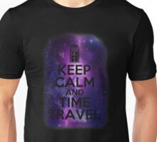 Keep calm and time travel Unisex T-Shirt