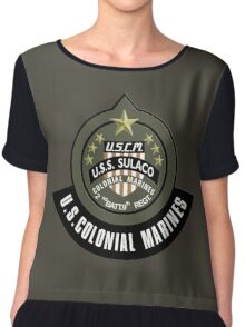 Aliens US Colonial Marines patch Chiffon Top
