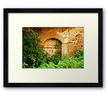 Derelict Building in Jajce Framed Print